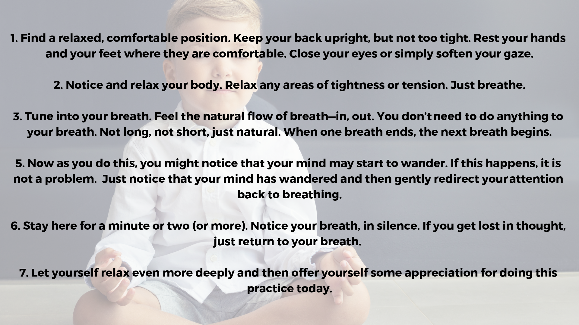 Mindfulness Practice Exercise